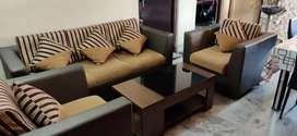 Hometown Lifestyle 3+1+1 Beige Sofa Set