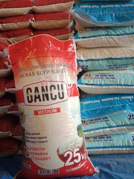 beras gancu kemasan 25kg murah