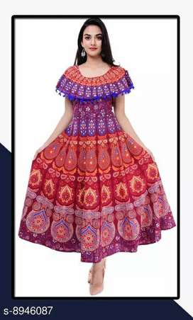 *Trendy Women's Cotton Jaipuri Dress* with cash on delivery option