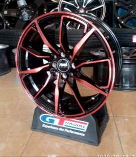 Velg racing Ring 17x7.5 h8x100/114.3 et40 cocok untuk Avanza Xenia