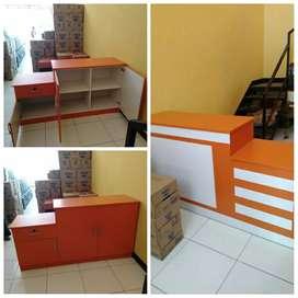Meja kasir minimalis bisa costum