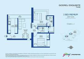 2 BHK Flat, Flat for Sale in Godrej Exquisite Thane West at Kavesar
