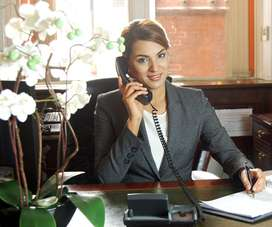 requirement for receptionist in hotels...