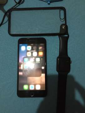 Apple watch seri 2 nike 42mmdan iphone 7plus 32gb