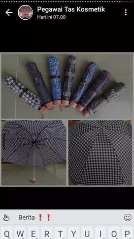Payung lipat motif kotak murah muarhhh