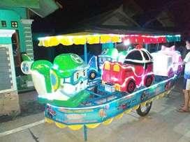karet lokomotif odong odong kereta panggung Robocar mix Tayo UL