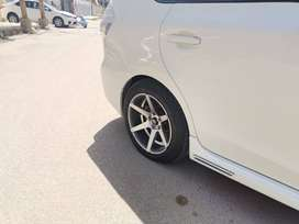 17 inch deep dish alloy rims and tyres