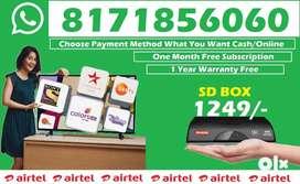 New Airtel DTH Dishtv Tatasky DTH HD Connection Tv tata sky offer@1249