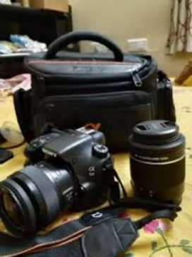 Sony Alpha 58 DSLR camera with 2 lens 18-55 & 70-300 and All series