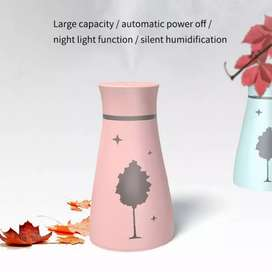 Air Humidifier Maple Leaf Oil Diffuser For Home Car With Led Night
