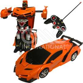 Rechargeable Remote Control Transformer Car Robot Toy
