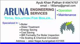 Boiler operation&maintenance Contract, WTP, Energy saving Services