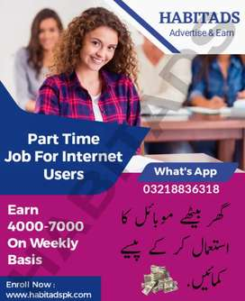 Typing and advertising jobs for  male and female