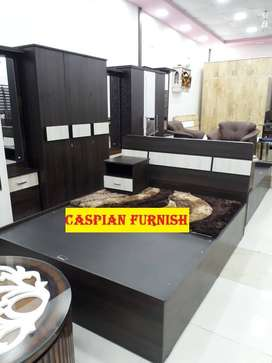 Caspian Furniture:- New premium bedroom set in coffee brown color