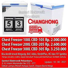 Cash Kredit Freezer Chest/Box Changhong 100-300L CBD105 CBD205 CBD305