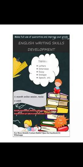 English writing skills and grammar class/tuition
