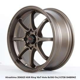 jual velg impor tipe HIROSHIMA JD6923 HSR R16X7 H8X100-114,3 ET38 SMBR