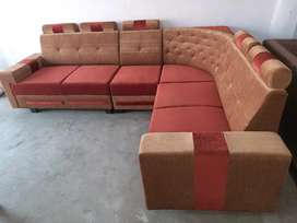 New L corner sofa set