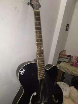 Acoustic guitar hobner export quality black