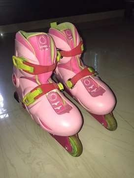 Oxelo - Pink - In-line skates Size 34-36