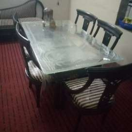 5 chair dining table and 7 seater sofa set