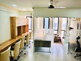 Fully furnished office on corporate road