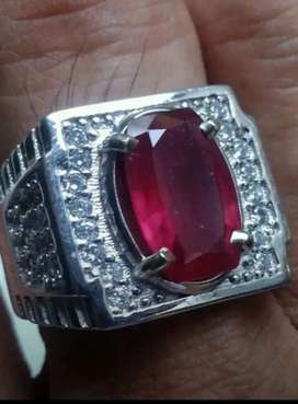Natural Ruby Mirah red blood cutting