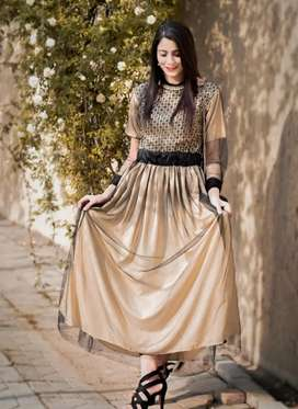 Beautiful stlye silk maxi