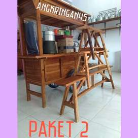 ONGKIR GRATIS, Gerobak/Rombong Angkringan, Bayat, TERKUAT B071