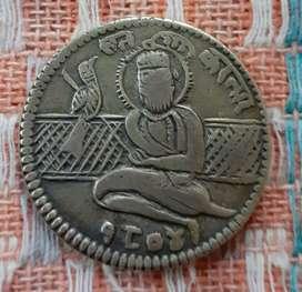 Original antique piece of 1804 sat kartar coin