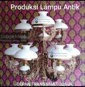 Produksi Lampu Gantung Cabang 9 Antik Klasik Hias Joglo Gebyok Gasebo