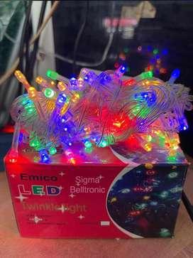 Lampu hias tumbler tumblr natal Emico 10 meter warna warni kelap kelip
