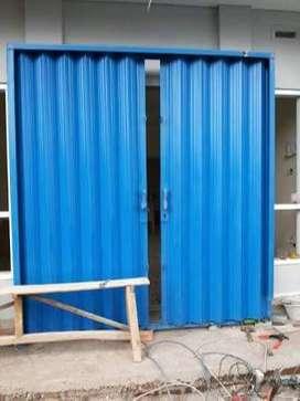 Rolling door folding gate murah 011