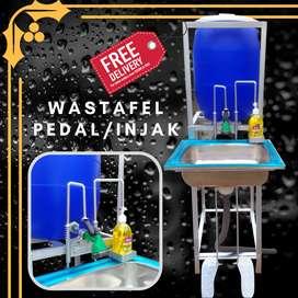 Wastafel portable injak / pedal, tempat mencuci tangan