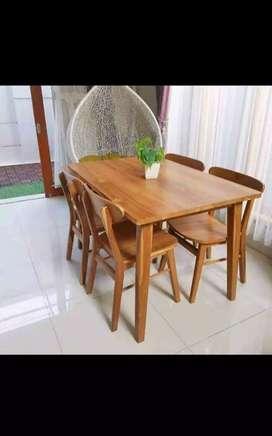 Meja makan cafe Kayu Jati Setanda