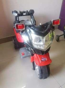 Battery operated rideon bike.