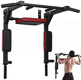Wellshow Sport Chin Up Bar Wall Mounted Pull Up Bar Dip Station