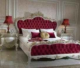 Set Tempat Tidur Ukiran Modern Murah
