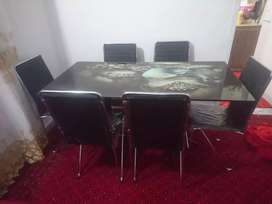 6 person Daining table only 2 day used