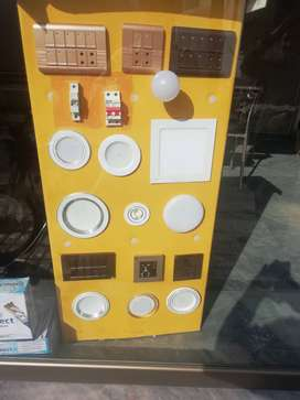LED LIGHTS, switches, breakers and all Electrical materials
