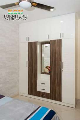 Brand new 5 door wardrobe ceiling touch glossy finish
