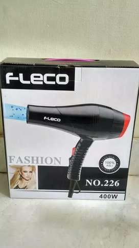 Hair dryer fleco F226 daya 400watt pengering rambut baru jantungacc