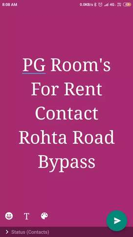 PG Room's For Rent on Rohta Road Near Bypass