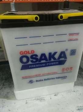 Garansi 6 bulan aki mobil basah Osaka untuk honda brio mobilio jazz
