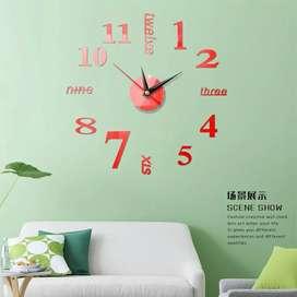 Jam dinding DIY variasi angka kecil