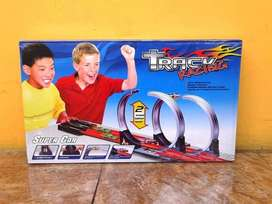 Mainan Track racing hotwheels halilintar 2 jalur hot wheels