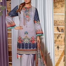 Latest lawn desings and chickankari dress New summer collection