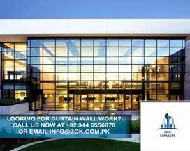 Aluminum Glass Curtain wall Spider Fitting and ACP Cladding Sheets