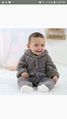 PROMO - Winter Cotton Baby Romper Long Sleeve Hooded Infant Jumpsuit