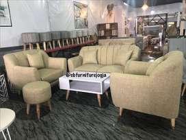 sofa tamu MODEL 211 scandinavian, Stool, Meja